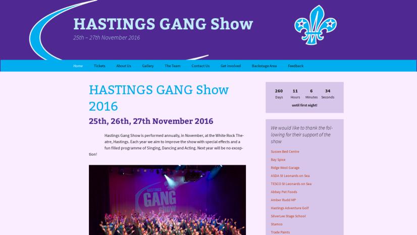 HASTINGS GANG Show 2016 – HASTINGS GANG Show